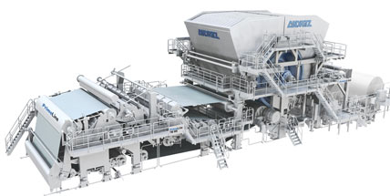 ANDRITZ successfully starts up eleventh tissue machine for Hengan Group, China