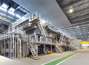 Rengo completes construction work to renew containerboard machine at Marusan Paper Mfg.
