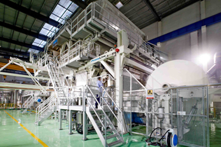 ANDRITZ  starts up tissue machine with steel Yankee for Shandong Sun Paper