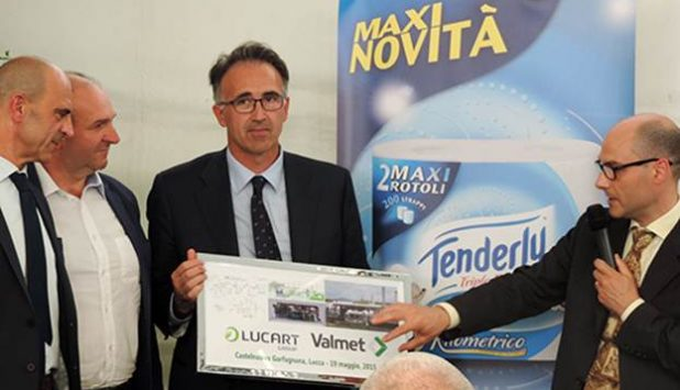 Valmet supplied Cogeneration system inaugurated at the Lucart Castelnuovo tissue mill