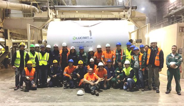 Toscotec – rebuilt tissue machine started-up at Lucart Laval sur Vologne mill
