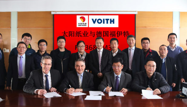 Voith wins two new PM 36 and PM 37 XcelLine papermaking machine orders from Sun Paper