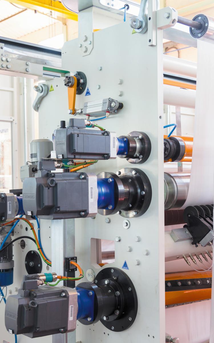 Start-Stop electronic rewinder mod S60, Servo motor transmission view.