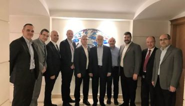 From left: Massimiliano Corsini, Paolo Vezil (Valmet), Lütfi Aydin (Hayat), Björn Magnus, Jan Erikson (V), Yahya Kigili (H), Haluk Arican (V), Avni Kigili, Ibramih Güler, Kemal Arslan (H).