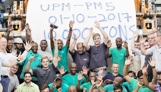 """PMP's """"Gold Eagle"""" TM5 at UPM's mill (South Africa) reached its first 10000 Ton milestone"""