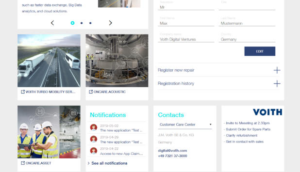 Voith introduces online platform MyVoith for digital applications and services