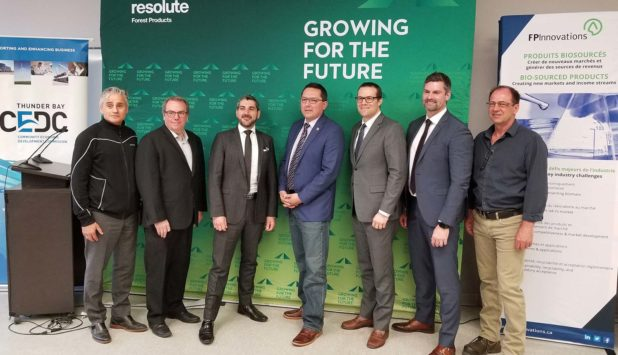 Federal government invests $2M in the opening of Thunder Bay TMP-Bio plant