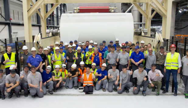 Koehler Paper's New PM 8 produces first roll of paper at Kehl Mill located in Germany