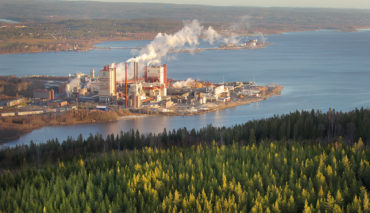 Östrand Pulp Mill, a world leading pulp producer.