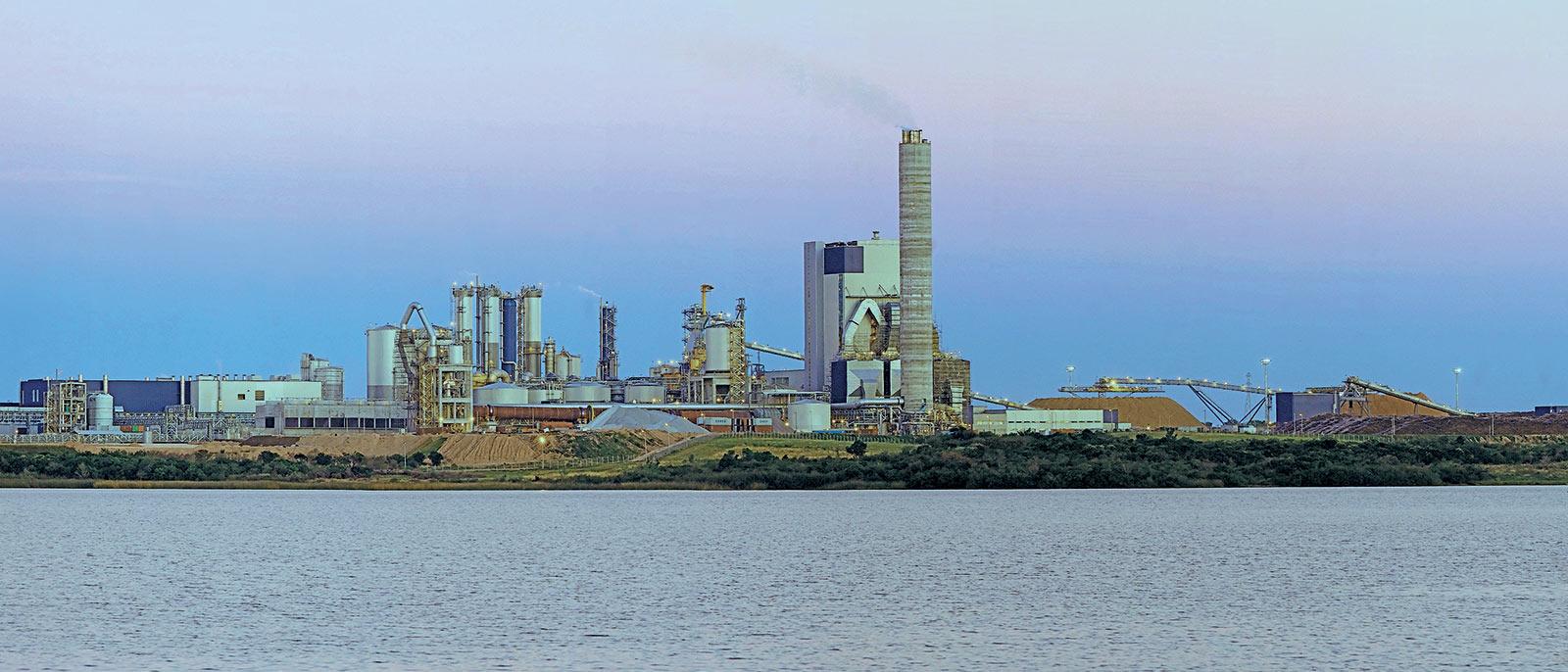 Pulp mill in Fray Bentos, Uruguay.