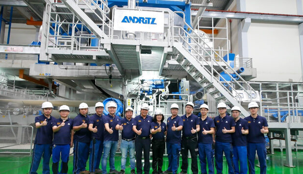 ANDRITZ successfully starts up tissue production line delivered to Xuan Mai Paper in Vietnam