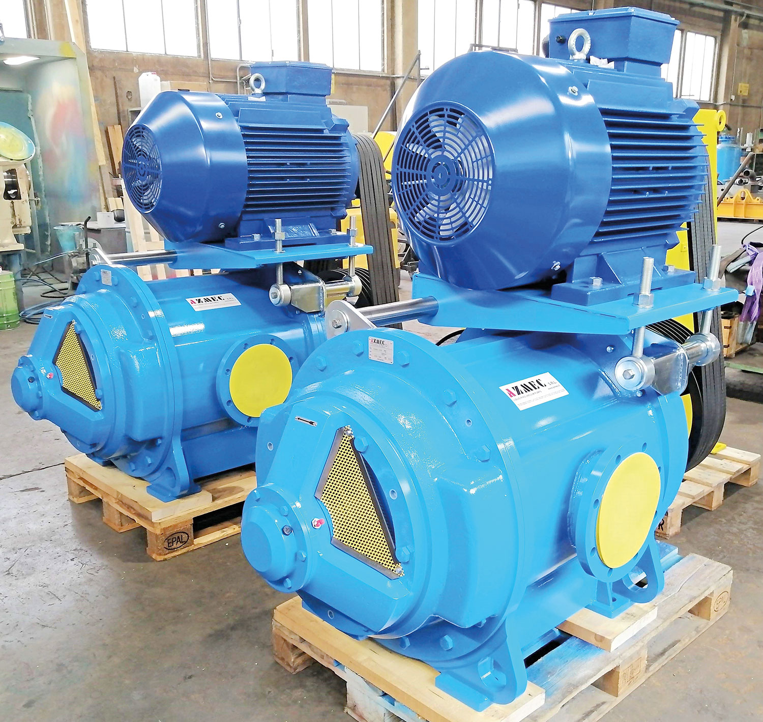 Vacuum pump groups AL50 for a papermill in Italy